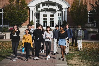 high school students on campus-sm